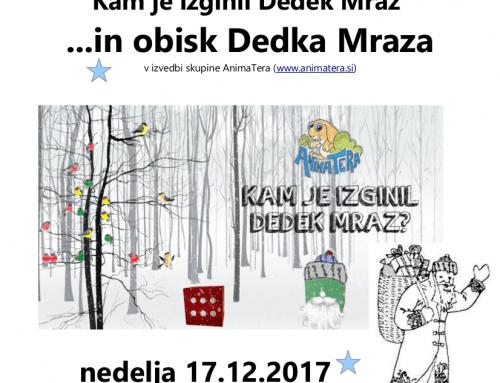 Predstava za otroke in obisk Dedka Mraza