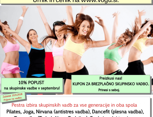 Kupon za brezplačno skupinsko vadbo