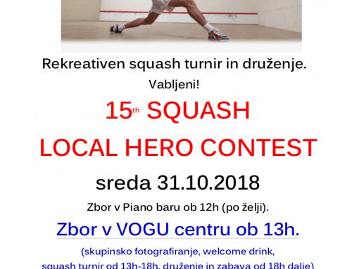 Squash turnir 31.10.2018
